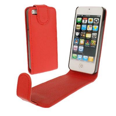 BAIYUNLONG Funda de piel para iPhone 5, 5S, SE y SE SE y SE (rojo)