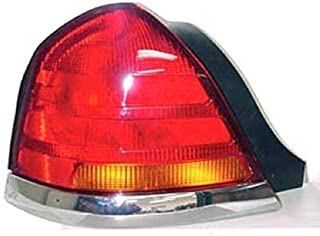 Go-Parts - OE Replacement for 1998 - 2005 Ford Crown Victoria Rear Tail Light Lamp Assembly / Lens / Cover - Left (Driver) Side - (Base Model + LX + Police Interceptor + S + Special Edition) 3W7Z