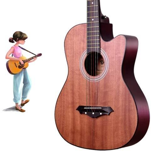 YJFENG-Gitarren, 38 Zoll Original Saiten Genaue Niedrige Saiten, Große Geschenkverpackung Anfänger, Jungen Und Mädchen (Color : Natural, Size : 96cm)