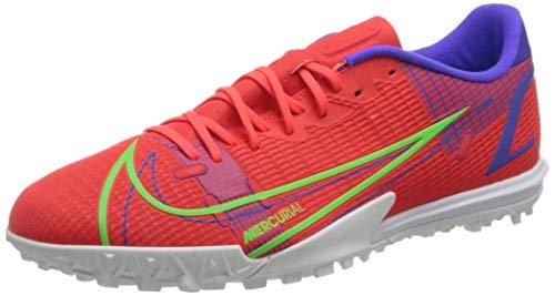 Nike Vapor 14 Academy TF, Scarpe da Calcio Unisex-Adulto, BRT Crimson/Mtlc Silver-Indigo Burst-Rage Green, 45.5 EU