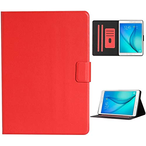 HH-Tablet Case,For Samsung Galaxy Tab A 8.0 T350/T355C Solid Color Horizontal Flip Leather Case with Card Slots & Holder & Sleep/Wake-up Function hangma (Color : Red)