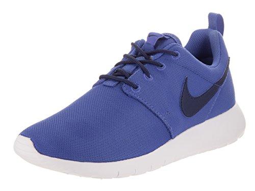 Nike - Roshe One - 599728420 - Couleur: Blanc-Bleu-Noir - Pointure: 40.0