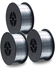 3 stuks D100 MIG MAG vuldraad-rol lasdraad 1 kg / E71T-GS/grootte 0,8 mm/universeel inzetbaar/geen gas/zonder gas