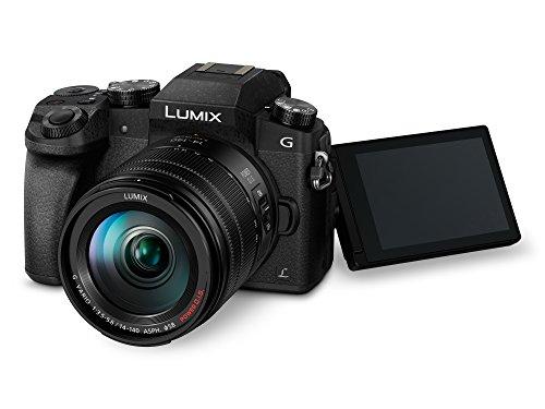 Panasonic Lumix DMC-G7H Kamera Mirrorless Digital mit Objektiv Standard Zoom Lumix G Vario 14-140mm H-FS14140, Foto und Video 4K, WLAN, Schwarz