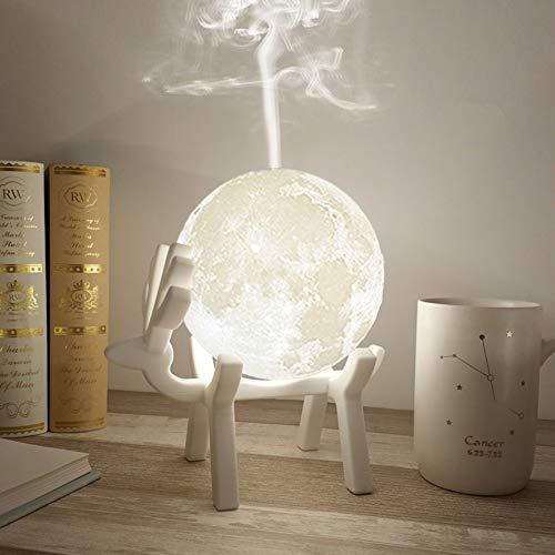 Gold Essential Oil Diffuser, 3D-Glas-Wesentliches Öl Diffusoren, 400Ml Ultraschall Aromatherapie Diffusoren Mit 4 Timer, Kühler Nebel, Wasserlos Auto-Off, Mist-Modus, 7 Farbe LED-Leuchten,16cm