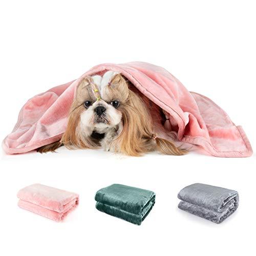 Mora Pets Coperta per Cani Gatti Copertina Gatto Coperta Cane Large 101x127cm Rosa