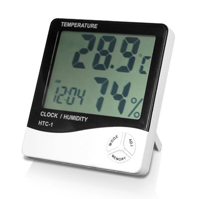 Digiflex Reloj con alarma LCD digital medidor de temperatura y humedad