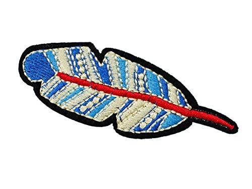 Miniblings Parche termoadhesivo, diseño de plumas y pájaros, 70 x 25 mm, para niños, para planchar