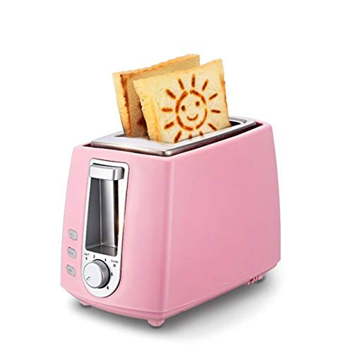 SMEJS Tostadora de Acero Inoxidable Hogar eléctrico automático Máquina de Hacer Pan for Hornear Desayuno máquina de Tostadas de 2 rebanadas de Cocina