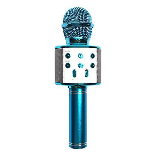 Draadloze Bluetooth karaoke-microfoon-luidspreker, 3-in-1 draadloze beweegbare handmic karaoke-machine voor start-verjaardagsfeesten