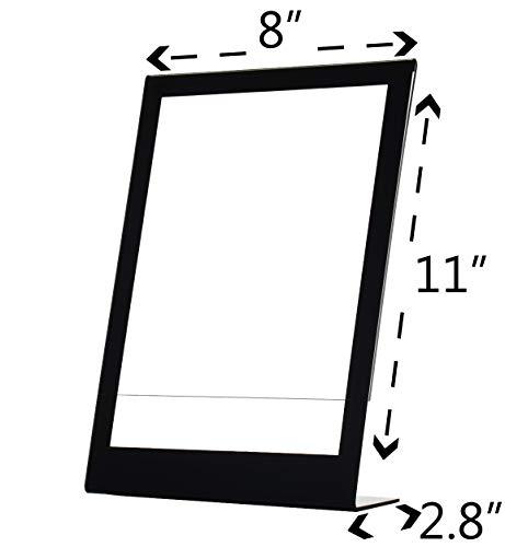 "Deflecto Slanted Sign Holder, 8.5"" x 11"", Black Border (69775) Photo #6"