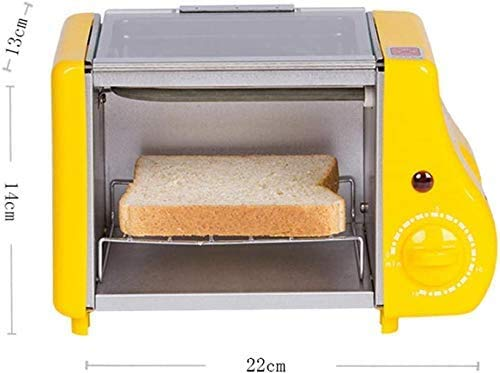 Breadmaker schattige mini Oven Gebakken Bakken Twee in een ontbijt Machine Multi-Function Brood Roaster 1-15min Timing Roosteren Machine 220W 220V-220V 8bayfa