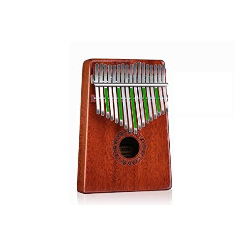 HMLSM Piano de Pulgar Kalimba de 17 Teclas, Hecho de Caoba