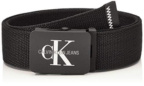 Calvin Klein Jeans Herren J 4CM ADJ.MONOGRAM CANVAS BELT Gürtel, Schwarz (Black 001), 676 (Herstellergröße: 100)