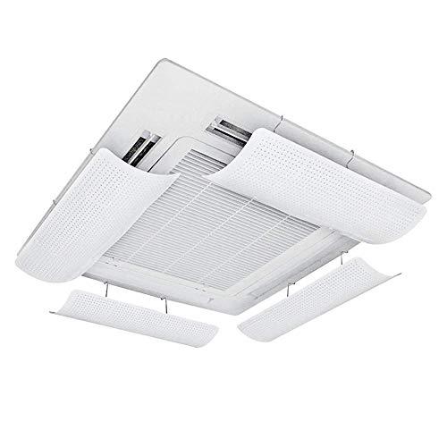 Airconditioner Deflector voor centrale airconditioning, lichtgewicht en flexibel en zachte ABS, eenvoudige installatie, microporeuze gids wind, voorkomen dat de lucht van blazen recht,58cm(één stuk)