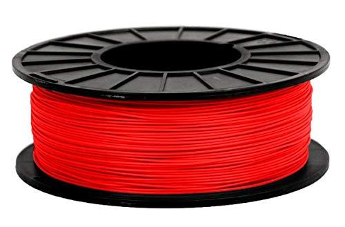 3D filament 1,75 mm TPU+TPE rubber gummi transparent 1000g 1.75mm 3D Druck (rot)