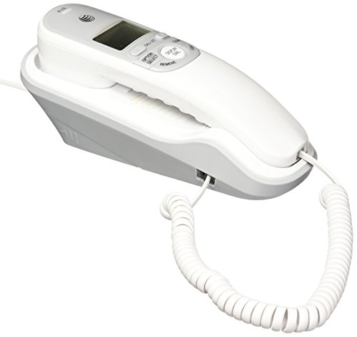 AT&T TR1909 Trimline Corded Phone with Caller ID, White (Renewed)