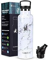 KollyKolla Botella de Agua Acero Inoxidable - 350/500/600/750ml/1L, Termo Sin BPA Ecológica Reutilizable, Botella...