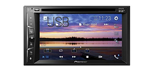 Pioneer AVH-A3200DAB 2-DIN-Multimedia Player, 6,2-Zoll ClearType-Touchscreen, Smartphone-Anbindung, USB, DAB/DAB+ Digitalradio, Bluetooth, 13-Band-Grafikequalizer