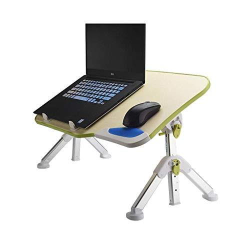 Mesa para computadora portátil Escritorio Cama Bandeja de Desayuno Ajustable en ángulo y Altura Plegable con Ventilador de enfriamiento