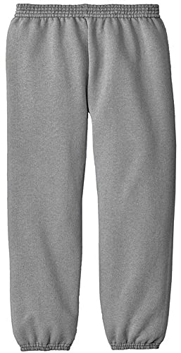 Joe's USA - Youth Soft and Cozy Sweatpants Athletic Heather. Size Youth XL(18-20)