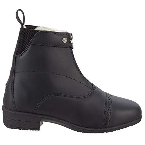 SUEDWIND FOOTWEAR Stiefelette »ICELOCK MERINO FZ« mit Reißverschluss vorne. Bequeme Winter Boots aus Echtleder | Reitschuh mit Merino Wolle | Tolle Passform | Stiefel-Schuh Größen 35-46 | Farbe: Schwarz & braun