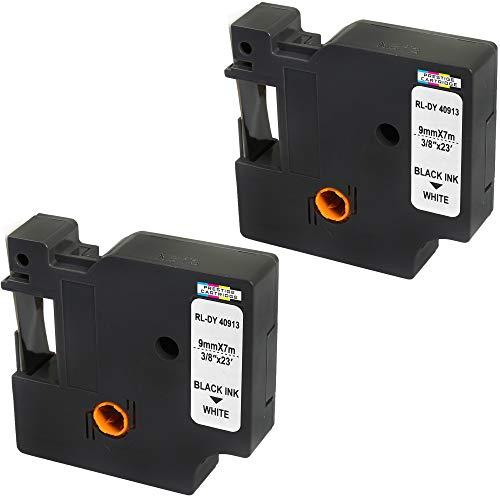 2 Kassetten D1 40913 schwarz auf weiß 9mm x 7m Schriftband kompatibel für DYMO LabelManager LM 100 150 160 200 210D 260 280 300 350 350D 360D 400 420P 450 500TS PC PC2 PnP LabelWriter LW 400 450 Duo