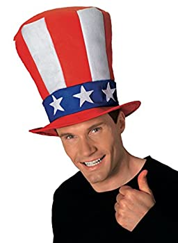 Rubie s Men s Uncle Sam Stovepipe Hat Multi One Size
