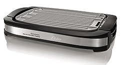 cheap DuraCeramic Reversible Grill / Grid, Titanium Coated Oster, Black (CKSTGR3007-TECO)
