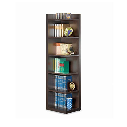 Coaster Home Furnishings Corner Bookcase, Cappuccino