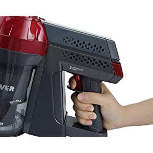 Hoover FD22RP011 Freedom - Balai électrique sans Fil, Autonomie jusqu'à 25 min, Gris/Rouge