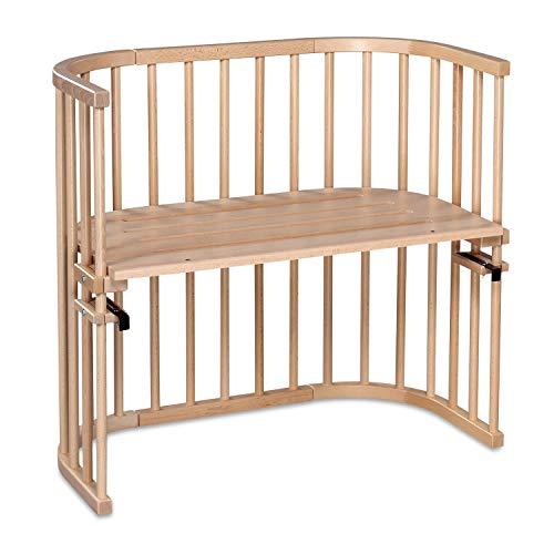 babybay Original Beistellbett aus massivem Buchenholz für Tag und Nacht I Kinderbett Höhe verstellbar & umweltfreundlich I mitwachsendes Babybett (Natur lackiert)