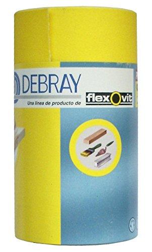 Flexovit 63642579313 Rollos de Papel Vibrator Emblistados, BC2, Debray, 120 Grano, 115 mm A x 5m L, Set de 9