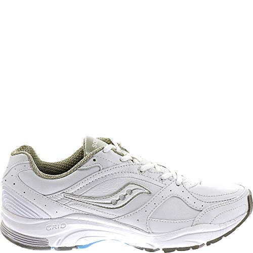 Saucony Women's ProGrid Integrity ST2 Walking Shoe,White/Silver,9.5 B(M) US (10109-1)