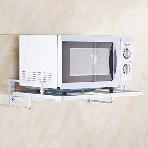 Inicio de Cocina Estante Multifuncional Horno de Carro montado en la Pared de Almacenamiento en Rack Marco de Metal de Acero Inoxidable (Size : Large)