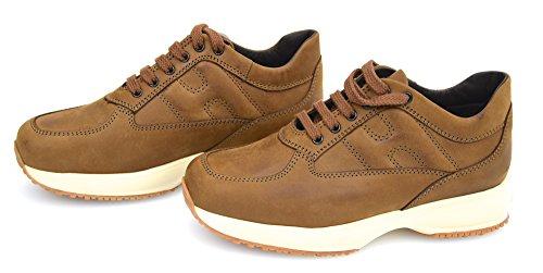 Hogan Junior Interactive Bambina Scarpa Sneaker Casual Art. HXC00N0001EF0UC817 32 Caramello SC. - Dk. Caramel