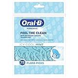 Oral-B Complete - Filo interdentale con forcelle, aroma di menta glaciale (75pezzi)