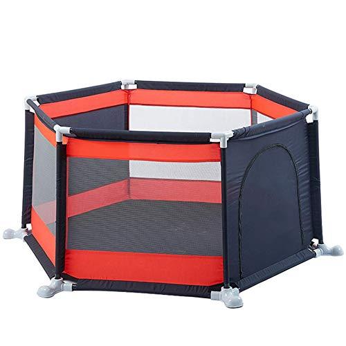 WBHZ Babyzaun, Tragbarer Kindersicherheitszaun, Sechseckiges Babyspielplatzspielzeug Für Den Innen- Und Außenbereich (stabil Und Umweltfreundlich)