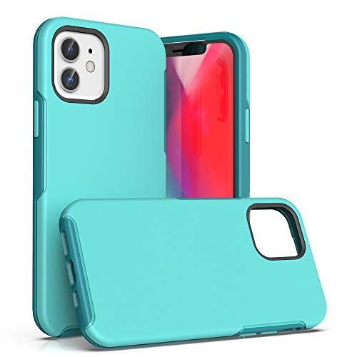 Krichit Ongoing Series Compatible with iPhone 12 Mini case (2020), Anti-Drop and Shock-Absorbing case Compatible with 5.4-inch iPhone 12 Mini case (Aqua)
