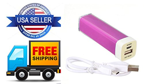 Power Bank 2600mah, Backup Battery USB Charger for Samsung, Iphone, Sony, Lg, Htc, Blu, Blackberry