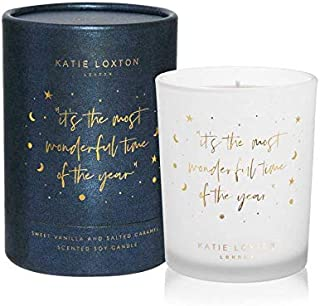 Most Wonderful Time Navy Shimmer Sweet Vanilla and Salted Caramel Candle