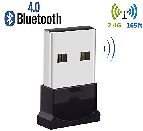 Bluetooth USB Adapter, Bluetooth 4.0 USB Dongle, Low Energy for PC, Wireless Dongle, for Stereo Music, Keyboard, Mouse, Support Windows 10 8.1 8 7 XP vista