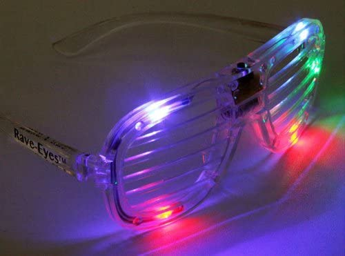 LED Flashing Glasses Max 43% OFF Slotted Rave-Eyes for - Parties Cr Raves or Popular overseas