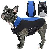 Hjyokuso Abrigo de Perro Impermeable a Prueba de Viento Chaqueta Caliente para Mascotas al Aire Libre, Cachorro Ajustable Ropa fría Invierno para Perros pequeños, medianos y Grandes (Azul M)
