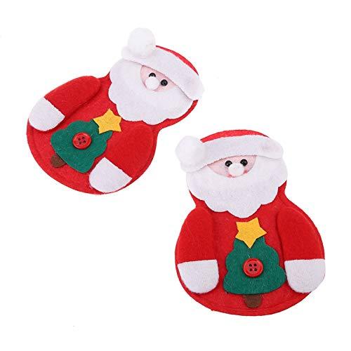 6 Stk Weihnachten Besteckhalter Weihnachtsdeko Taschen Weihnachtsmann Kostüm Besteckbeutel Weihnachten Dekoration Besteck-Sets Besteckbeutel Serviettentasche Weihnachtsdeko