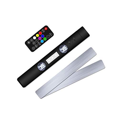 Pequeña lámpara de ambiente de coche inalámbrico Música del coche Lámpara de ambiente de ritmo de la atmósfera de control remoto magnética luz colorida Luz portátil del coche USB Lámpara decorativa