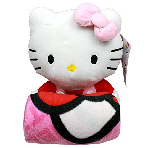 Manta - Hello Kitty - muñeco de peluche y manta (Lazo) de forro polar 68390