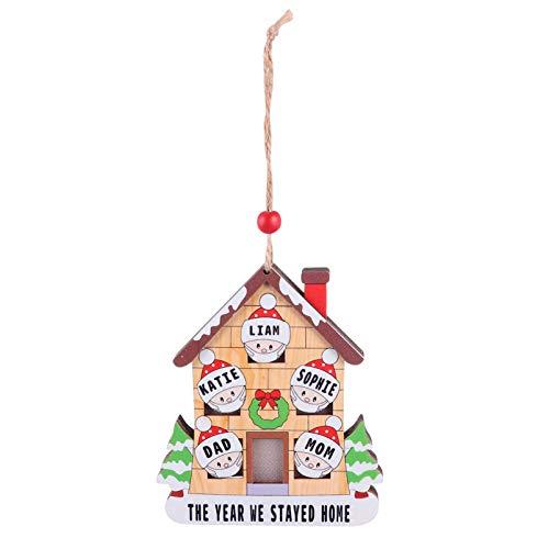 LED Light up Christmas Wooden Village House 2020 Adorno de Navidad Superviviente Adorno familiar Casa Linterna Árbol de Navidad Adornos de decoración colgantes para suministros de fiesta de Navidad