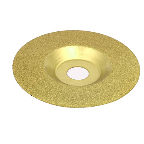 X-DREE Taza de cerámica de azulejo de vidrio en forma de disco de muela de pulido 100 mm de diámetro exterior (Disque de meule de polissage en forme de tasse en céramique' Diamètre extérieur du disque
