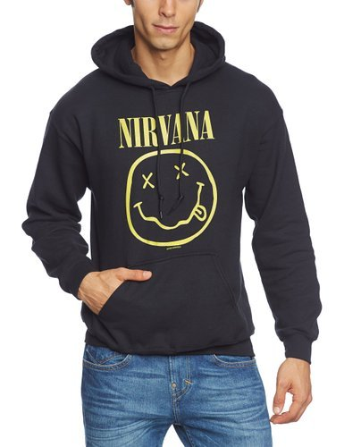 Hooded Sweatshirt (Unisex-S) Smiley (Black)